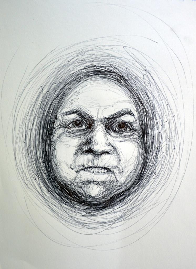 Kopf1 aus dem Zeichenkurs