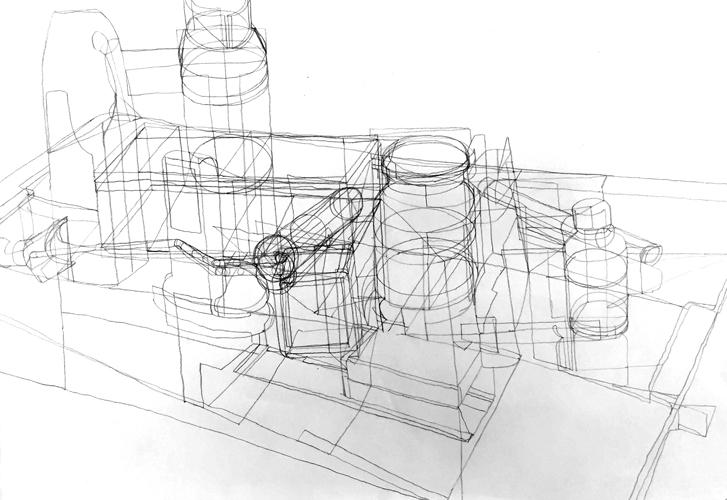 Objekte Zeichnung 2